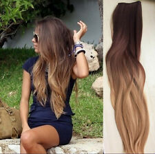 One Piece Clip in Hair Extensions Wavy Curly Straight Ombre Dip Dye Fashion Long