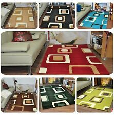 New Small Extra Large Modern Soft Boxed Pattern Area Rugs Carpet Mats Cheap Rug