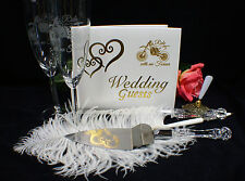 Dirt Bike Motorcycle Wedding Theme Glasses Knife Guest Book Lot Racing Track