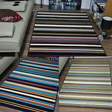 Extra Large Modern Funky Mat Soft Area Rugs Multi Stripe Cheap Carpet Rug Mats