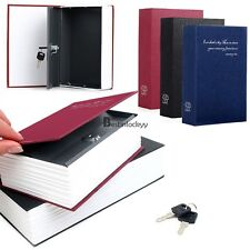 Security Dictionary Book Safe Storage Key Lock Box for Cash Jewelry Small Size
