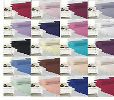 Polycotton Fitted ,Flat, Valance Sheet Pillow Case Single Double King,Super King