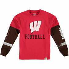 Infant Wes & Willy Red Wisconsin Badgers Football Fooler Long Sleeve T-Shirt