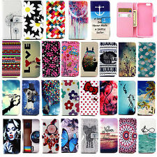 New Card Slot Pattern PU Leather Flip Wallet Case Cover For iPhone 5 5S 6 6 Plus