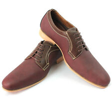 New Men's Red Wine Nubuck Ferro Aldo Shoes Snipe Toe Lace Up Leather Lining NEW