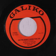 GERONIMO & APACHES: Oh Yes Baby I Love You So 45 Soul