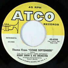 BOBBY DARIN: Come September / Walk Bach To Me 45 (instrumentals) Oldies