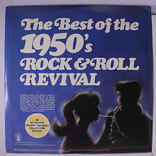 VARIOUS: The Best Of The 1950's Rock & Roll Revival LP (3 LPs, mildew spots oc,