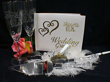 Halloween Day of the DEAD Love  Wedding Theme Glasses, Knife set Guest Book Lot