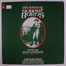 JEAN REDPATH: The Songs Of Robert Burns, Vol. 2 LP (small toc, slight cover wea