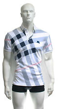 New .........   White Color Polo Neck Men Burberry Cotton Shirt
