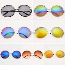 Retro Vintage Unisex Women Men Mirror lens Round Glasses Steampunk Sunglasses