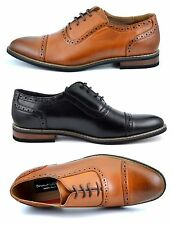 FREE SHIPPING PRINCE-5 MENS LACE UP CAP TOE OXFORDS CASUAL LEATHER LINED SHOES