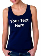 CUSTOM PRINTED PERSONALISED T-SHIRTS WOMEN'S VEST- DESIGN YOUR OWN - HEN PARTY