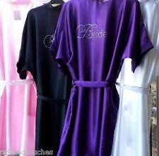 Personalised Set of 4 Satin Robes, Dressing Gowns Bride,Bridesmaid,Wedding Party