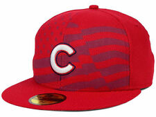 Official MLB 2015 Chicago Cubs July 4th Stars Stripes New Era 59FIFTY Fitted Hat
