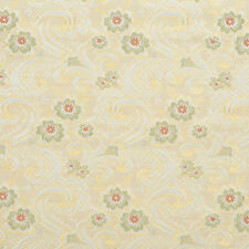 E391 Gold White Red Green Paisley Floral Brocade Upholstery Fabric