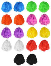 6 X PAIRS JUMBO USA POM POMS CHEERLEADER FANCY DRESS DANCE GROUP MULTI PACK