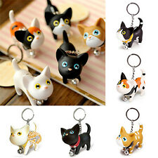 1PC Cat Kitty Kitten Keychain Key Ring Chain Wedding Gift For Couple Lovers