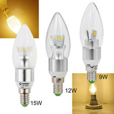 E14 Warm White LED 9W 12W 15W  5730SMD Candle light Energy Saving Bulb Lamp