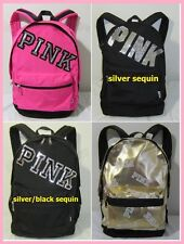 BLING Victoria Secret Pink Campus FASHION SHOW Sequin CARRY ON BOOK BAG BACKPACK