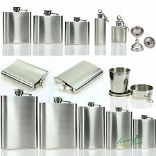 Stainless Steel Hip Liquor Holder Canteen Whiskey Bottle Pocket Flask Funnel Cup