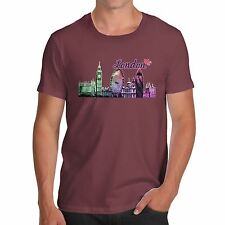Twisted Envy Men's Love London Cityscape 100% Organic Cotton T-Shirt