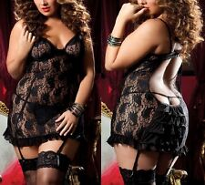 PLUS One Size SEXY Lingerie Basque Babydoll Size 8 10 12 14 16 18 20 22 24