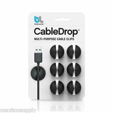 Bluelounge CABLEDROP Multi Purpose Cable Drop Clips CHOOSE 6 or 12 Pack