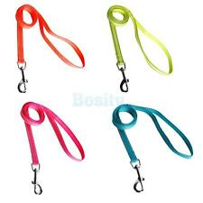 Reflective Nylon Pet Dog Leash Lead Rope w Clip for Collar Harness 4 Colors M XL