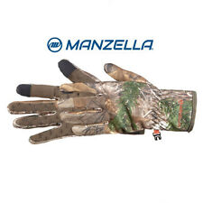 Manzella Gloves Bow Ranger TouchTip Mens Bow Hunting Gloves Realtree Xtra (Warm)