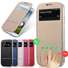 For Samsung Galaxy S4 I9500 Smart Sensor Leather Case View Window New Flip Cover
