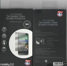 HTC ONE (M8) Tempered Glass Screen Protector Anti-Scratch Ex phones4u UK