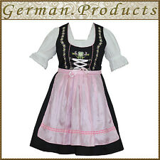 German Bavarian Oktoberfest Trachten 3 Pc Pink Dirndl Dress, Available All Size