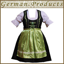 German Bavarian Oktoberfest Trachten 3 Pc Green Dirndl Dress, Available All Size