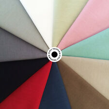 Solid Plain Medium Weight 250gsm Linen Look 100% Cotton Fabric Top Quality