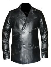 Genuine Leather Christopher Eccleston Dr. Who Real Sheep Leather Jacket #545