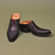 Women's Lucchese 1883 Burgundy Mule - M4877 - brand new, in the box