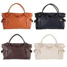 Women Tote Synthetic Leather Big Capacity Handbag Purse Weekend Gym Shoulder Bag
