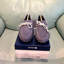NIB Men's Sperry Top-Sider Hamilton Driver 1-Eye Blue Leather Boat Shoes 10628