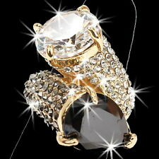 HUGE BLING Black Gold Micro Pave Set Crystal Cz Cocktail Wedding Statement Ring