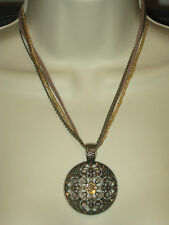 NWT Lia Sophia ROSETTE NECKLACE  - LOTS OF SPARKLE - GREAT SUMMER STYLE