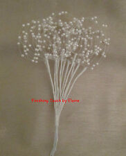 White/ Ivory Wired stems of Pearl Beaded Hoop Sprays.Wedding Bouquets.Decorative