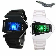 Military Stealth Fighter Cool LED Digital Date Day Waterproof Sport Wrist Watch