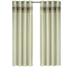 Milan Ivory Grommet Blackout Multilayer Lined Window Curtain Panel
