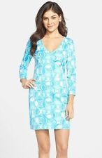 Lilly Pulitzer Juliet Fitted T Shirt Dress, What A Racquet, Small & Medium, NWT