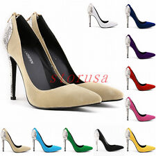 Grace Pointed Toe Pumps Womens High Heel Bridal Wedding Party Dress OL Shoes Sz