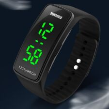 Fashion Square Men Womens Silicone Date LED Sport Digital Bracelet Wrist Watch