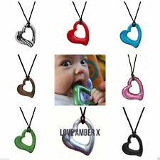 Gumigem Miller Heart Baby Teething Necklace from Love Amber x Mum Wears Chewable