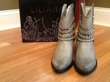 "TAUPE ANKLE  BOOTS STUDDED DETAIL MULTI SIZES Available ""New with box"""